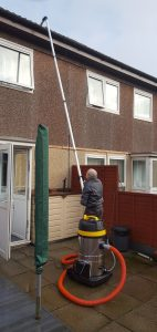 Gutter cleaning on Two Storey property