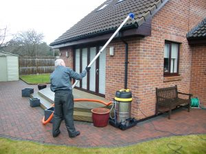 Gutter cleaning on bungalows